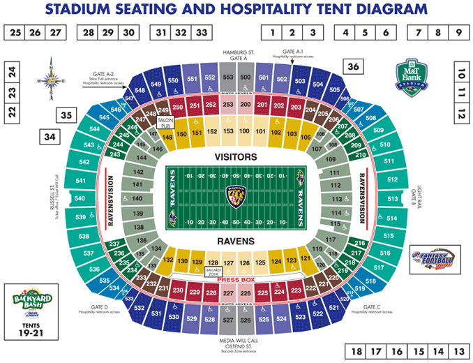 M t bank stadium baltimore tickets schedule seating charts