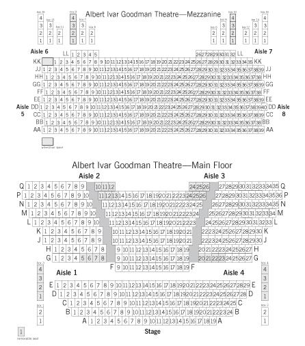 Goodman theatre the albert chicago tickets schedule seating