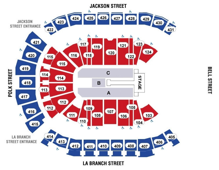 Toyota center houston tickets schedule seating charts goldstar