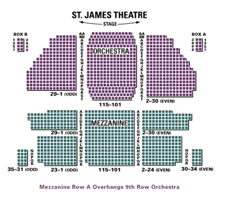 St james theatre new york tickets schedule seating charts