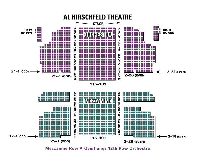 Al hirschfeld theatre new york ny tickets schedule seating