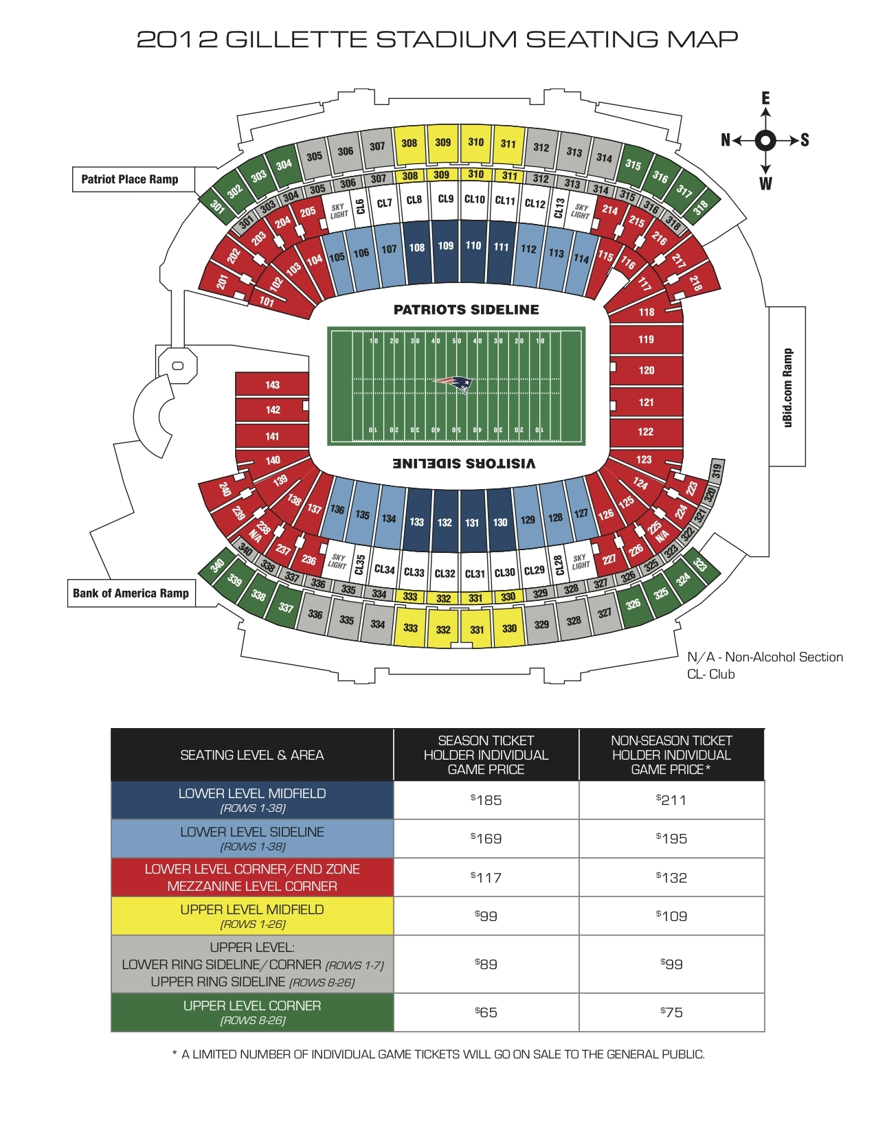 Gillette stadium boston tickets schedule seating charts goldstar