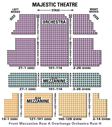 majestic theater seating chart nyc: The majestic theatre new york tickets schedule seating charts