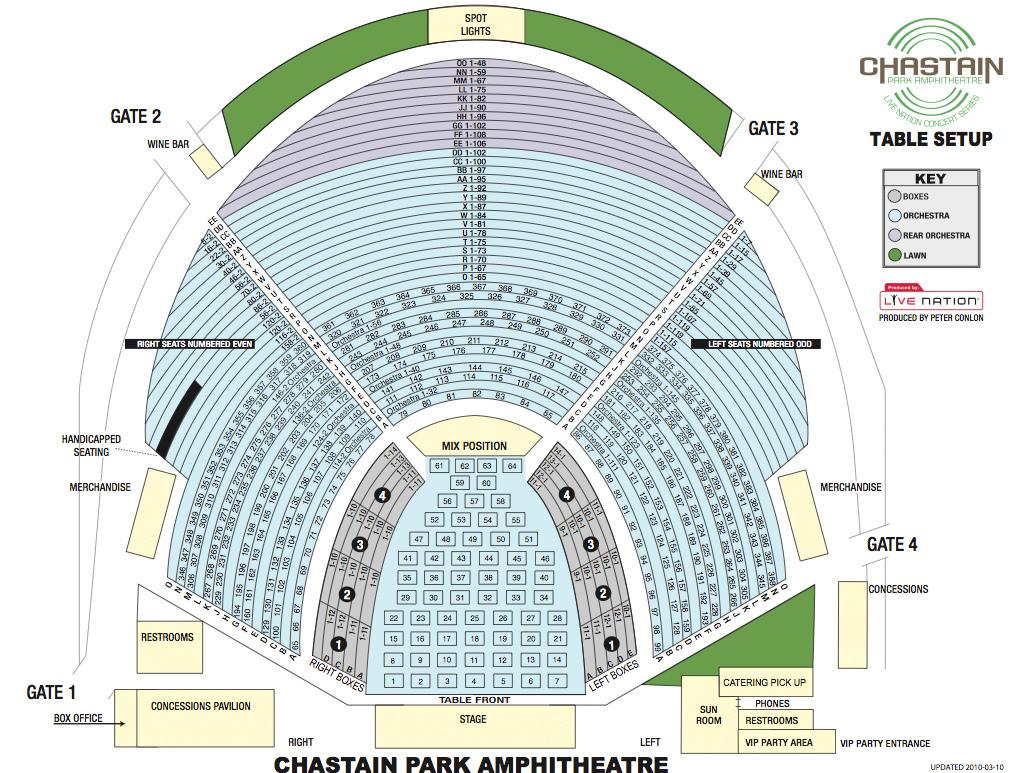 Chastain park amphitheatre atlanta tickets schedule seating
