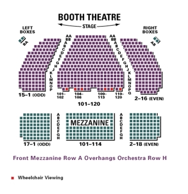 Booth theatre new york ny tickets schedule seating charts