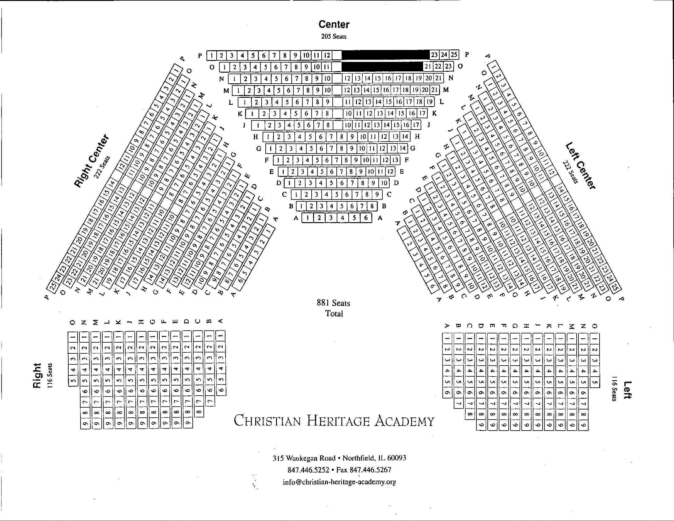 Christian Heritage Academy Seating Chart christianheritage