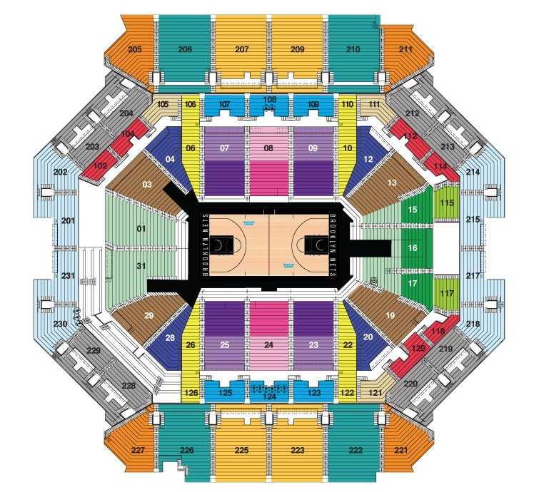 Barclays center new york tickets schedule seating charts goldstar
