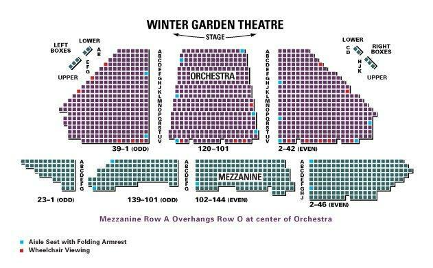 Winter garden theatre new york tickets schedule seating charts
