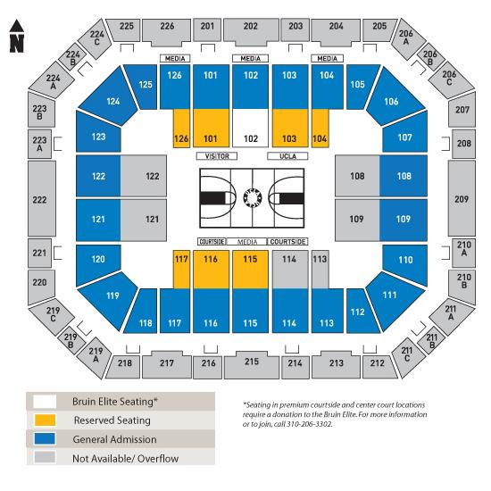 Pauley pavilion seating chart erkal jonathandedecker com