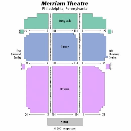 Kimmel center merriam theater philadelphia tickets schedule