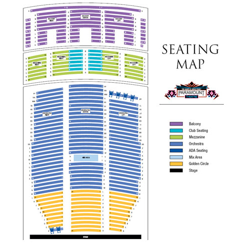 Paramount theatre denver tickets schedule seating charts