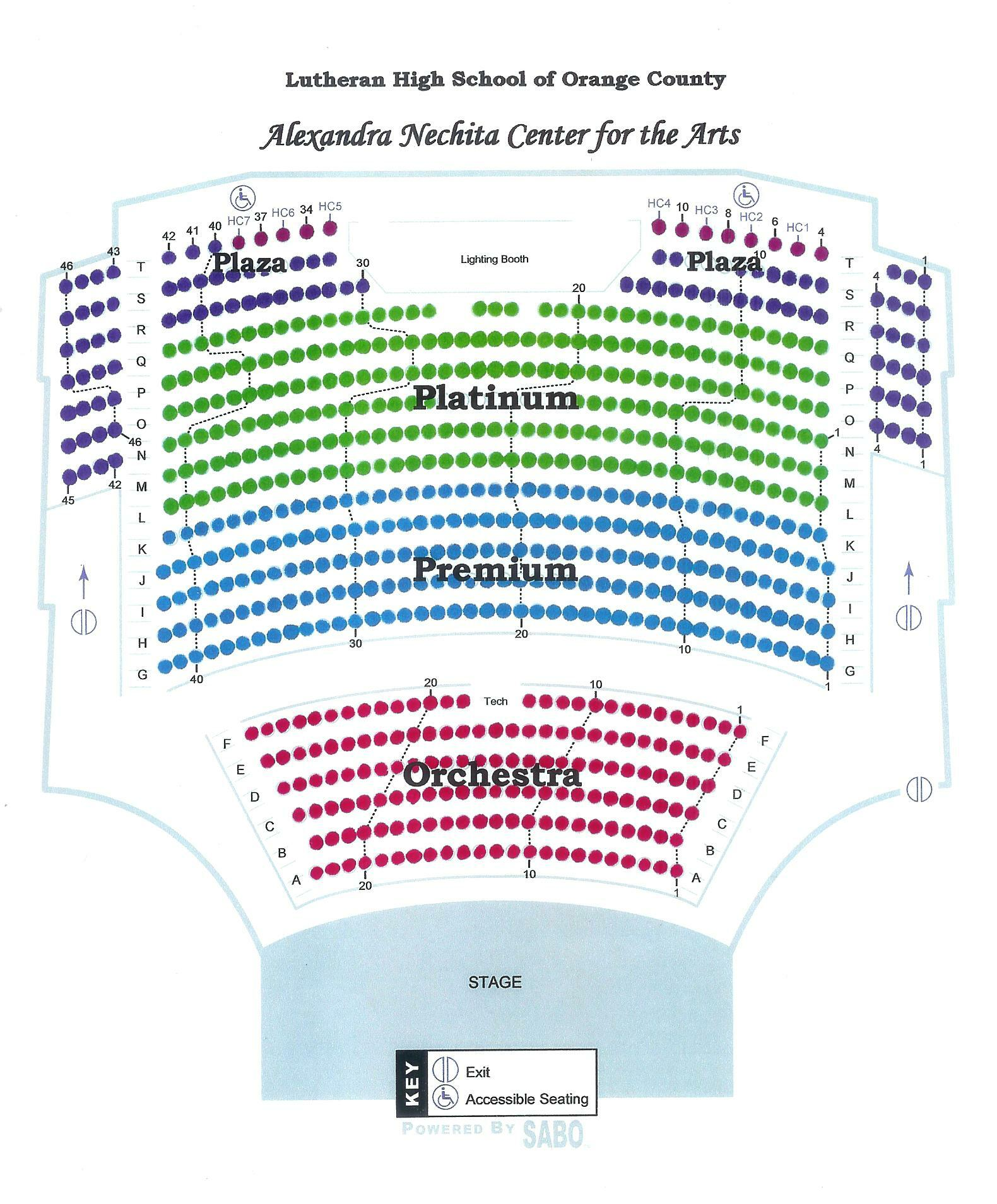 nechita seating chart Nechita Center Seating