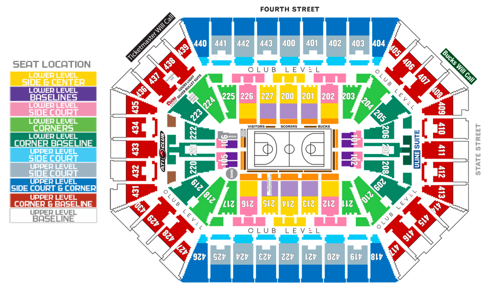 Bmo harris bradley center milwaukee tickets schedule seating