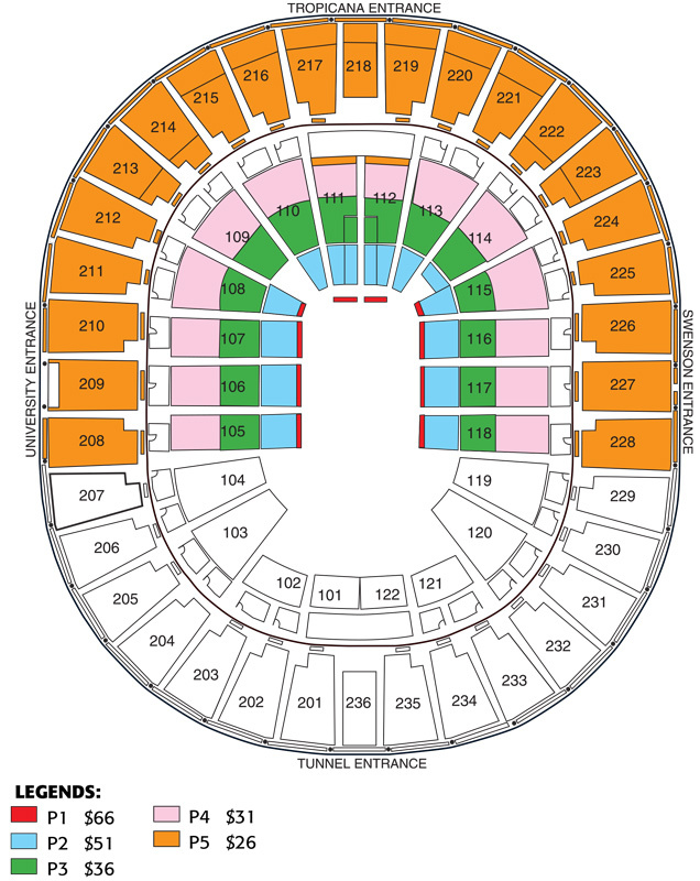 Thomas mack center las vegas nv tickets schedule seating