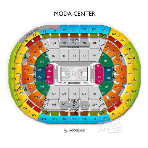 Rose quarter moda center portland tickets schedule seating