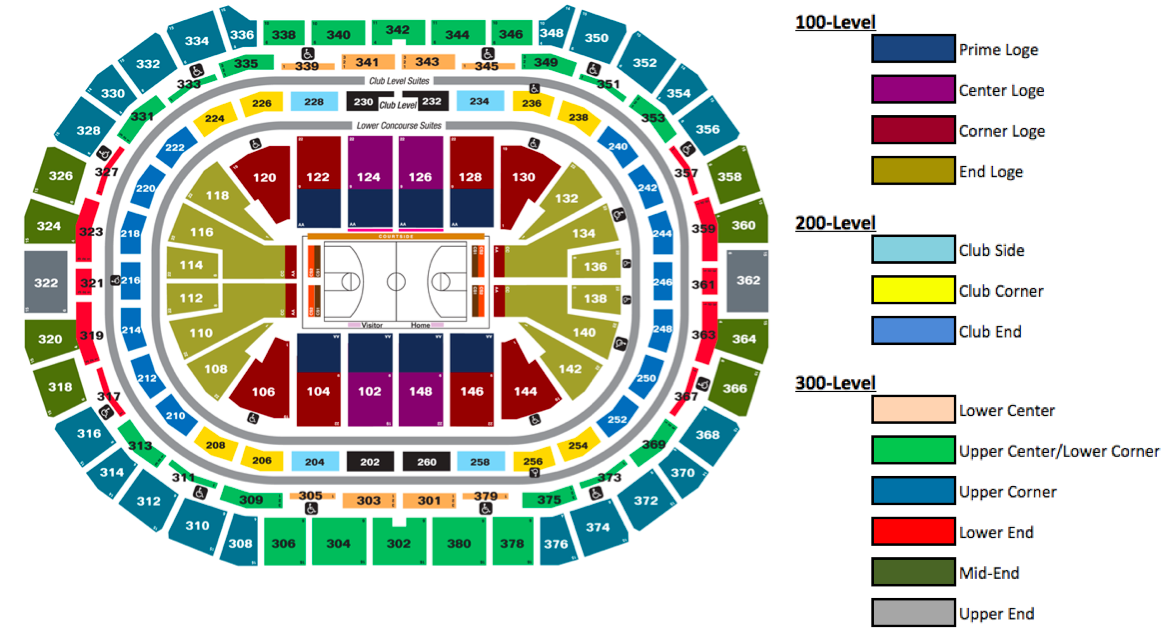 Pepsi center denver tickets schedule seating charts goldstar