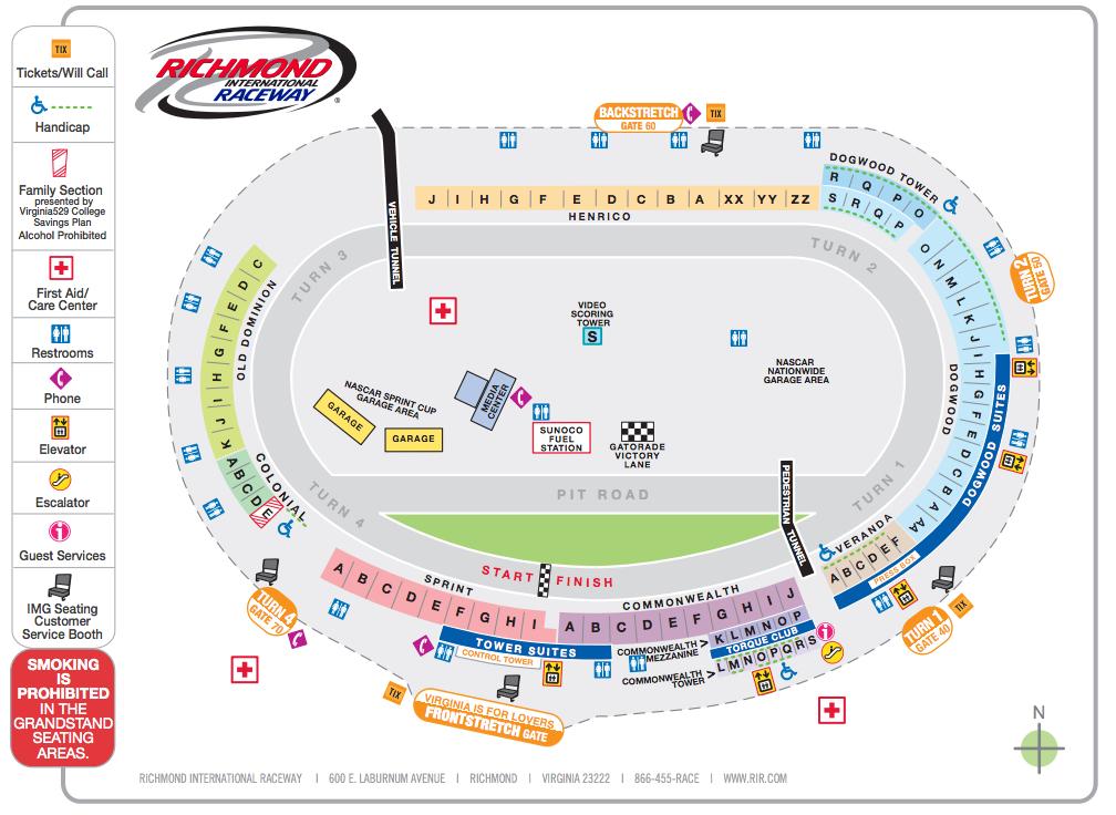 Richmond international raceway richmond tickets schedule seating