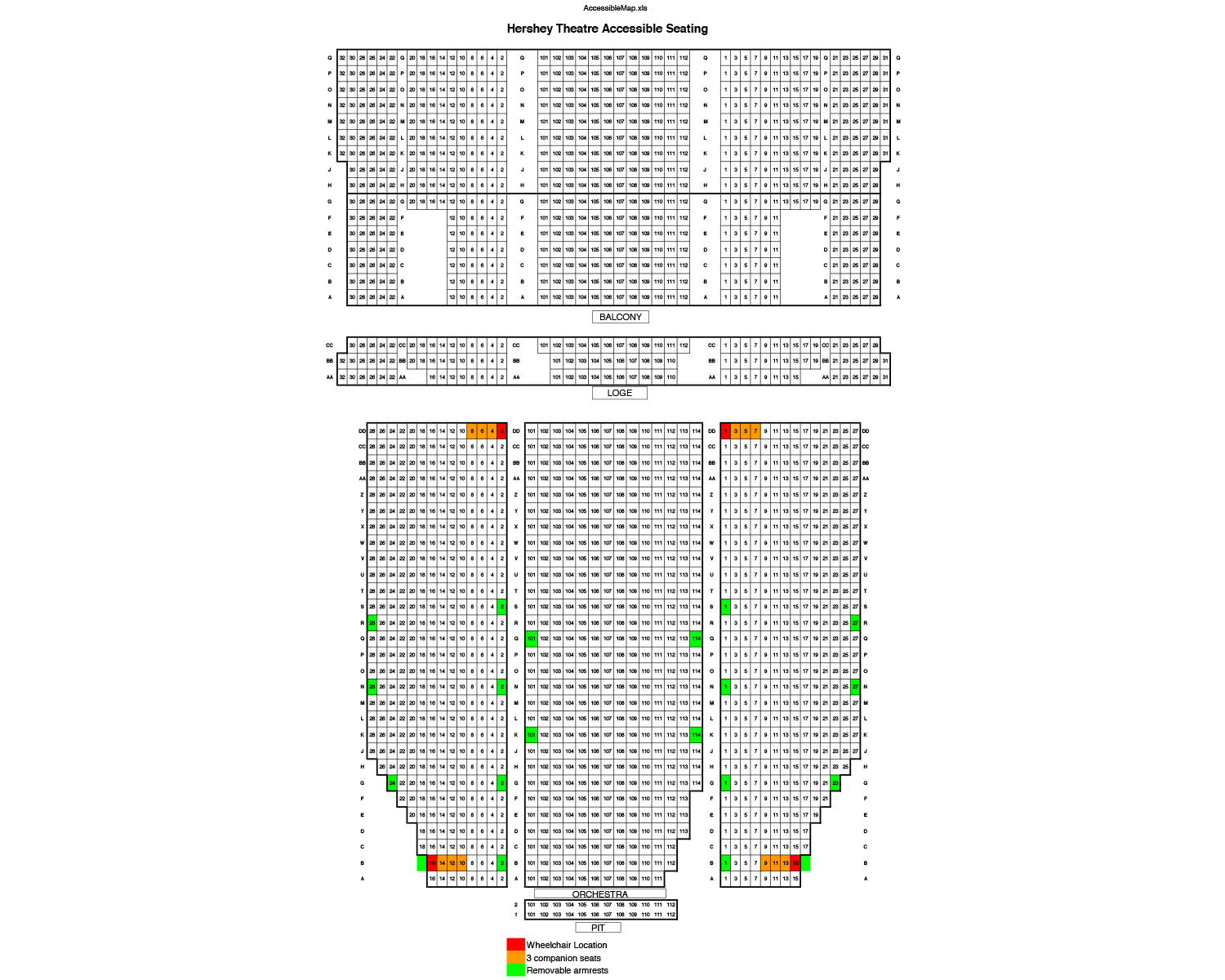 Hershey theatre philadelphia tickets schedule seating charts